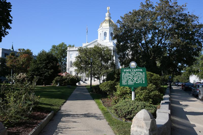 New Hampshire State House. The New Hampshire State House, located in Concord at 107 North Main Street, is the state capitol building of New Hampshire. The stock images