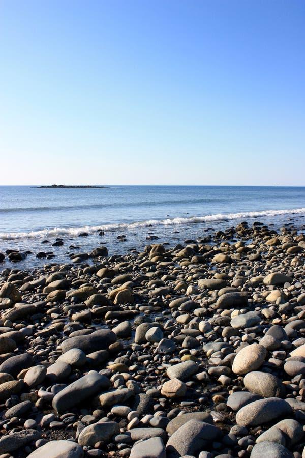 New Hampshire stenig strand arkivfoton