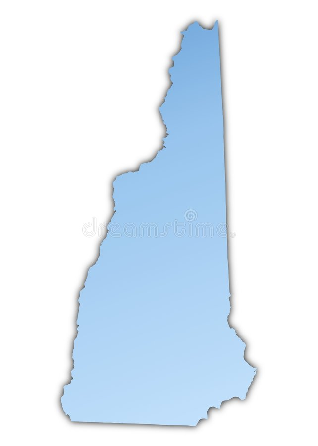 Download New Hampshire(USA) Map Stock Image - Image: 7307271