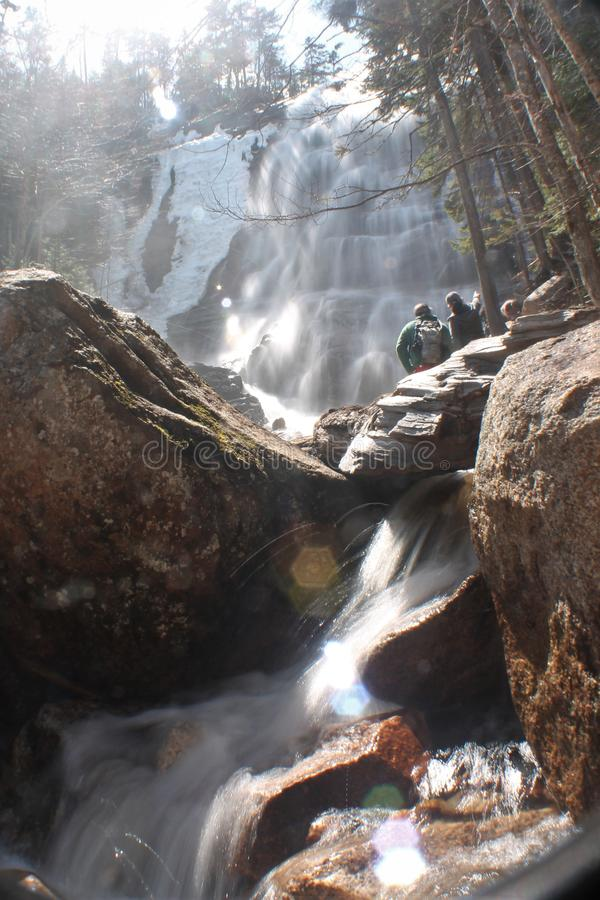 New Hampshire vattenfall arkivfoton