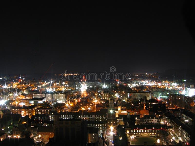 New Haven bij Nacht royalty-vrije stock foto