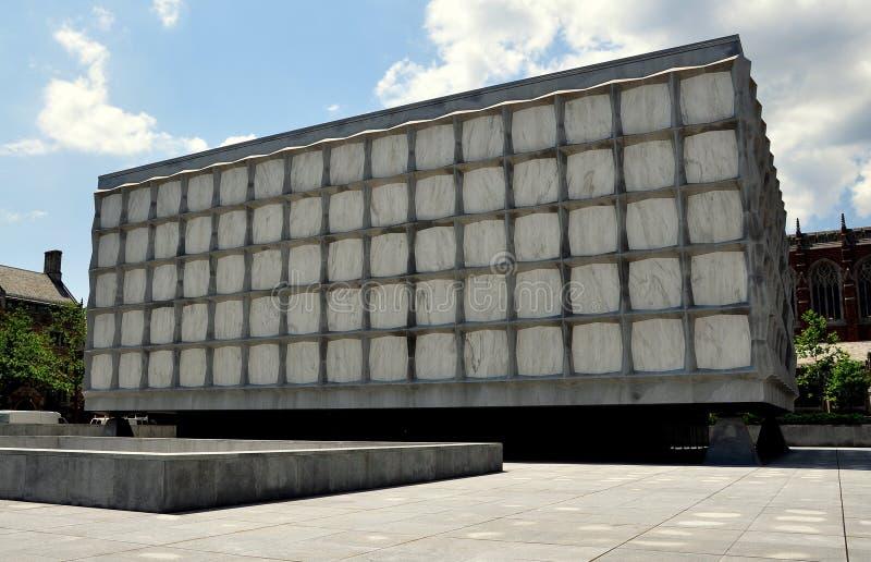 New Haven, CT: Biblioteca do livro raro & do manuscrito de Beinecke fotografia de stock