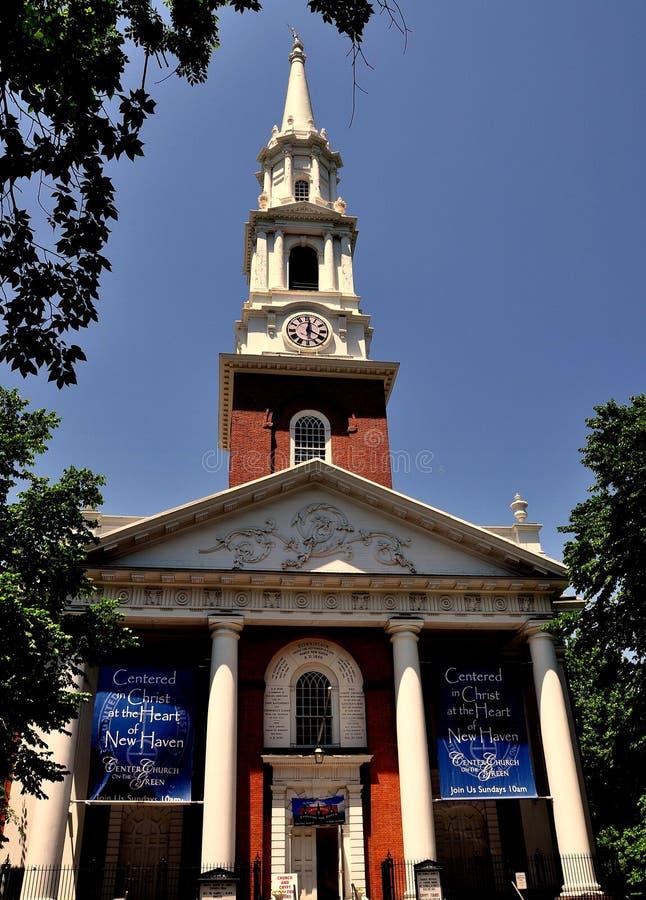 New Haven, CT : Première église 1813 du Christ photo libre de droits