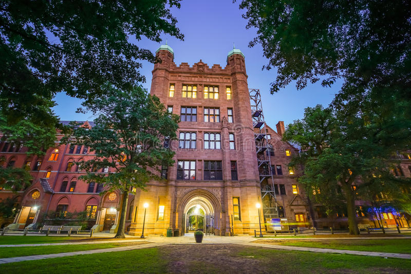 New Haven en Yale University van de binnenstad royalty-vrije stock afbeelding