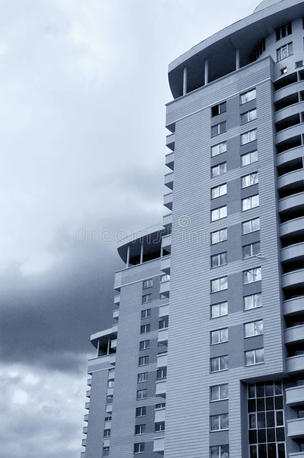 Free New High-rise Urban Buildings Sepia Royalty Free Stock Photography - 815197