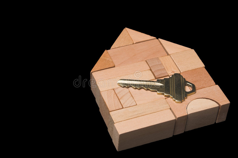 New Home. The key to a brand new home stock photography
