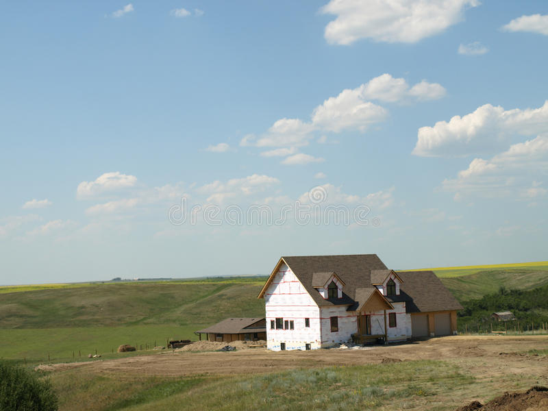 New home construction. stock photography