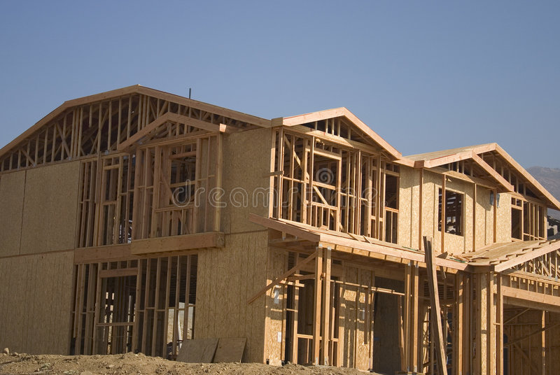 New home construction stock images