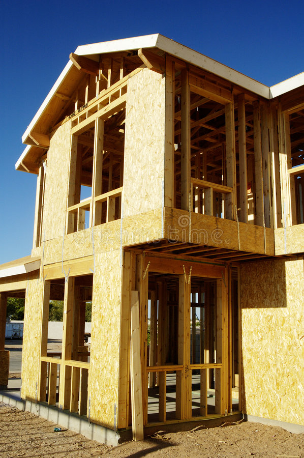 New home construction stock image
