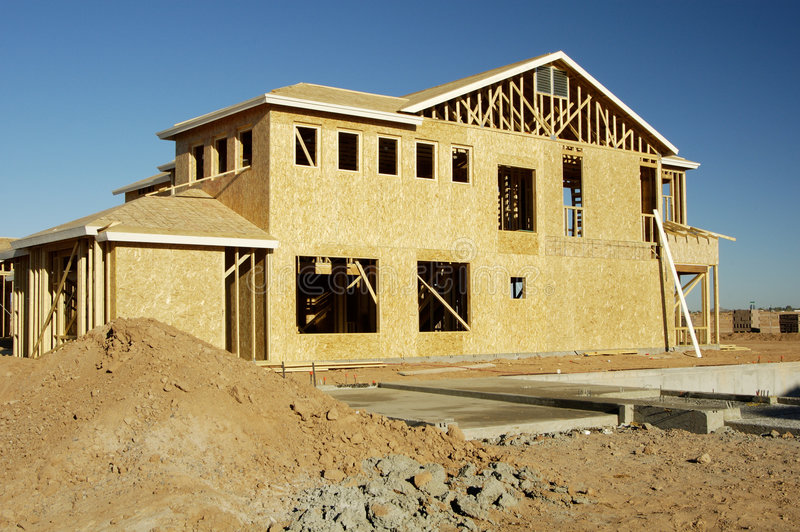 New Home Construction 4 stock images