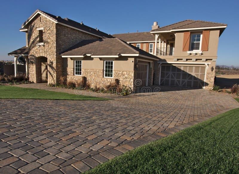 New Home Construction Facade stock photo