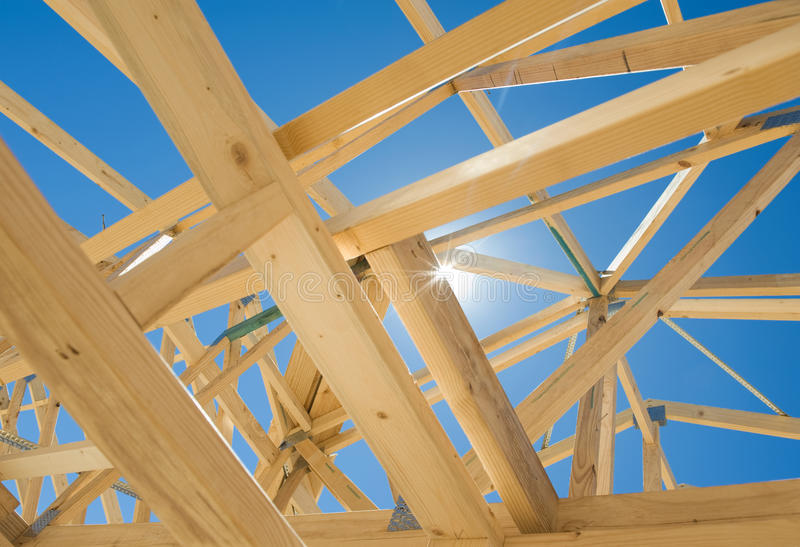 Download New Home Construction Framing. Stock Image - Image: 22341711