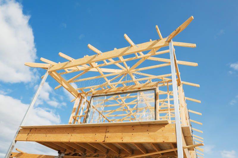 Download New Home Construction Framing. Stock Image - Image: 22460901