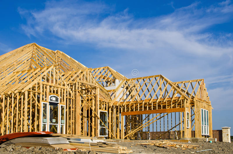 Download New Home Construction Framing Stock Photo - Image of construction, plank: 27770434