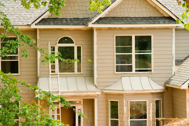 New Home Construction/Painting Stock Photos