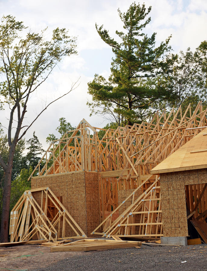 Download New home construction stock photo. Image of lumber, house - 33401556