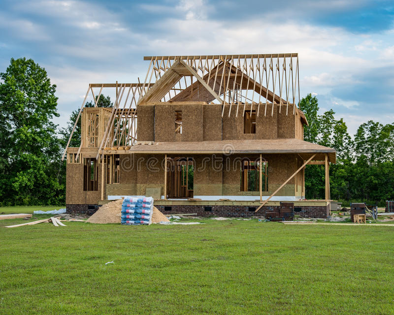 New Home Construction royalty free stock photos