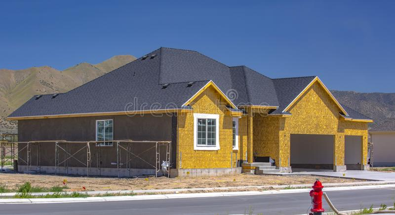 New home construction in Utah Valley royalty free stock images