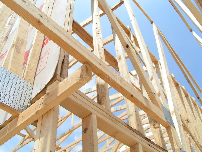 New Home Framing royalty free stock image