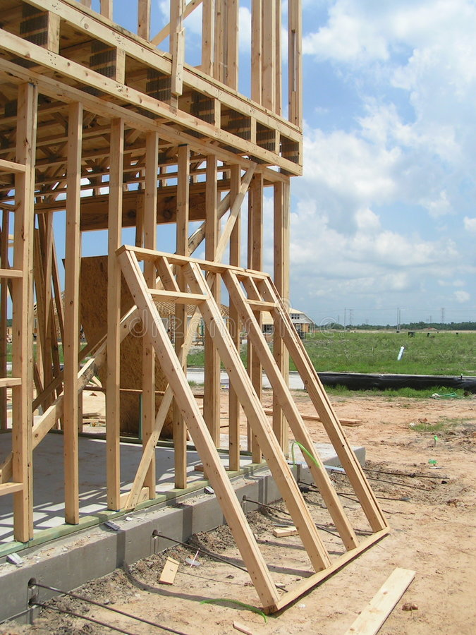 New Home Framing stock image