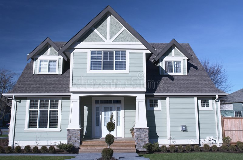 New Home House Canada Exterior Royalty Free Stock Image