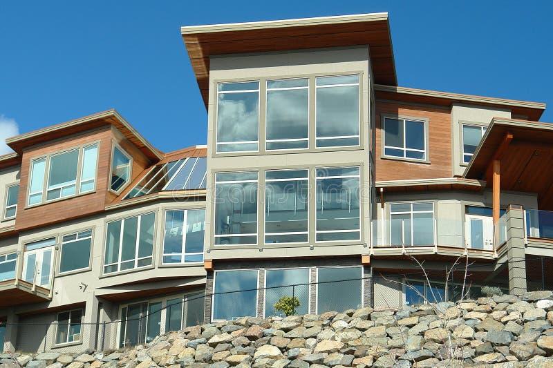 New Home House Exterior Windows stock photos
