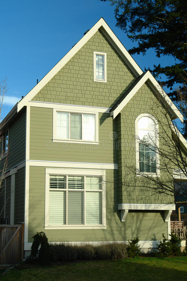 New Home House Green royalty free stock photos