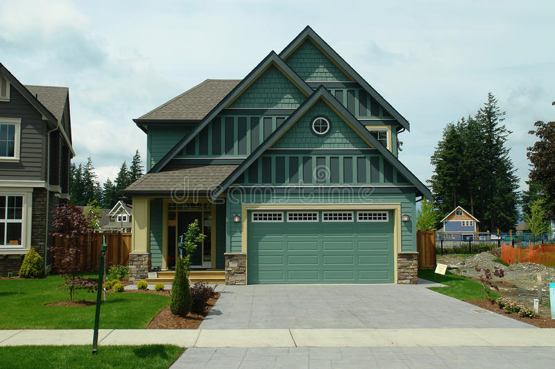 New Home House For Sale Green royalty free stock image
