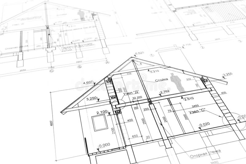 New Home Plan Blueprint Stock Photo Image - New home plan