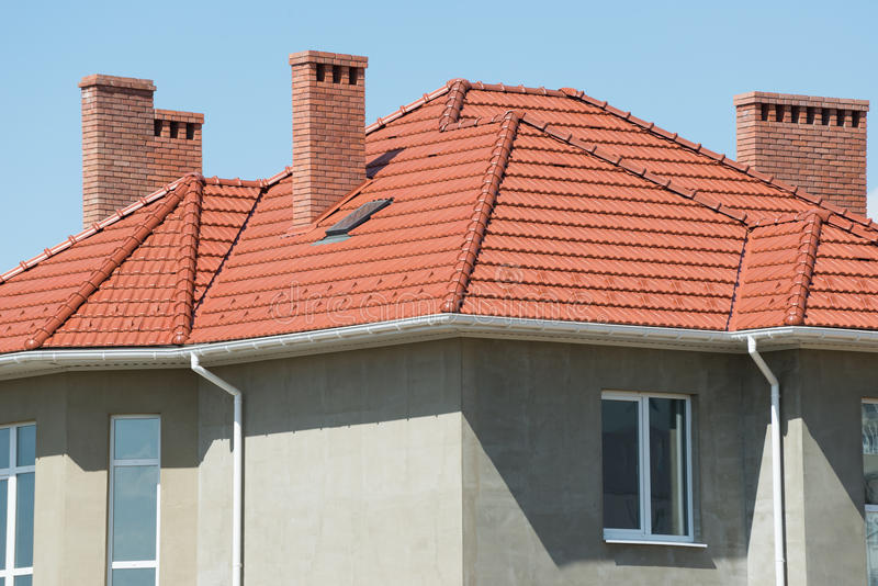New home and roof royalty free stock photos