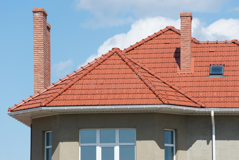 New home and roof royalty free stock photography