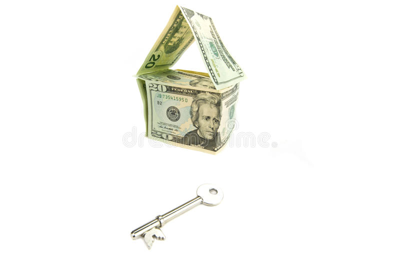 Download New home symbol with key stock photo. Image of building - 19640536
