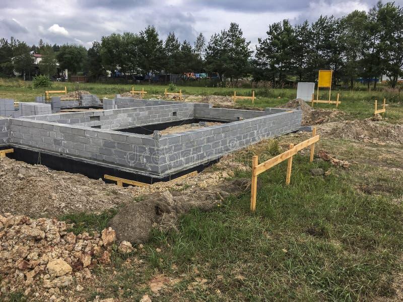 New home under construction - Poland royalty free stock photos
