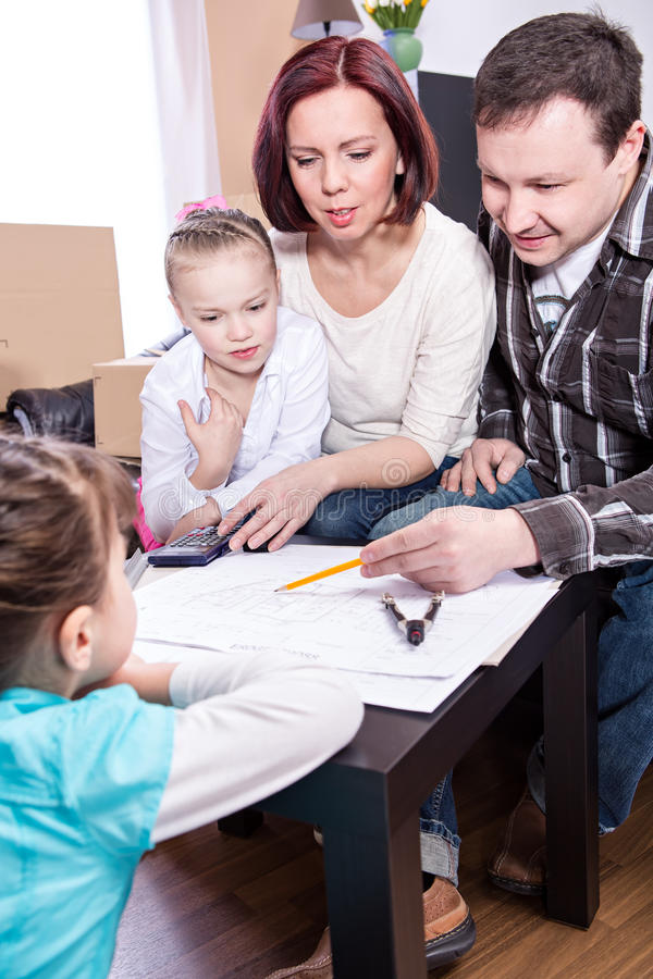 Download New home stock image. Image of moving, families, architecture - 30422755