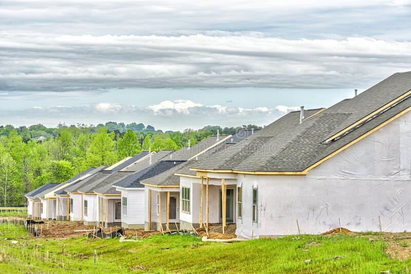 New Homes Under Construction royalty free stock photography