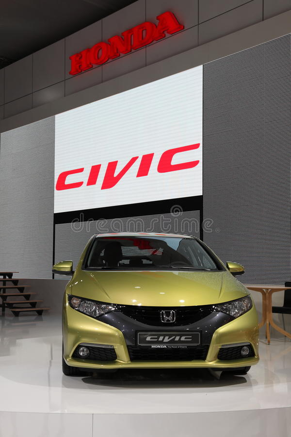 Download New Honda Civic at the IAA editorial photo. Image of automobil - 21299346