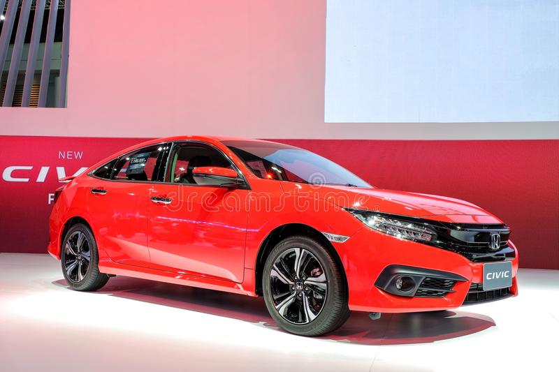 New Honda CIVIC red color stock photography