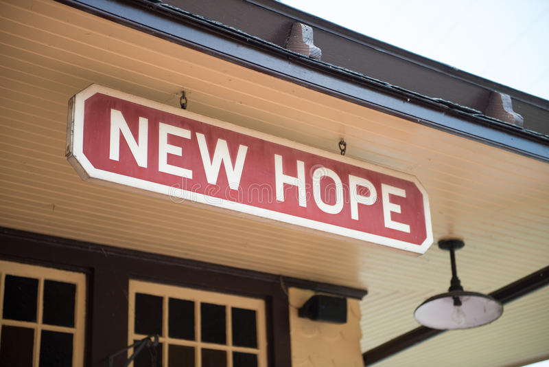 NEW HOPE, PA - AUGUST 11: The New Hope and Ivyland rail road is a heritage train line for visitors going on touristic. NEW HOPE, PA - AUGUST 11: Views of The New royalty free stock photos