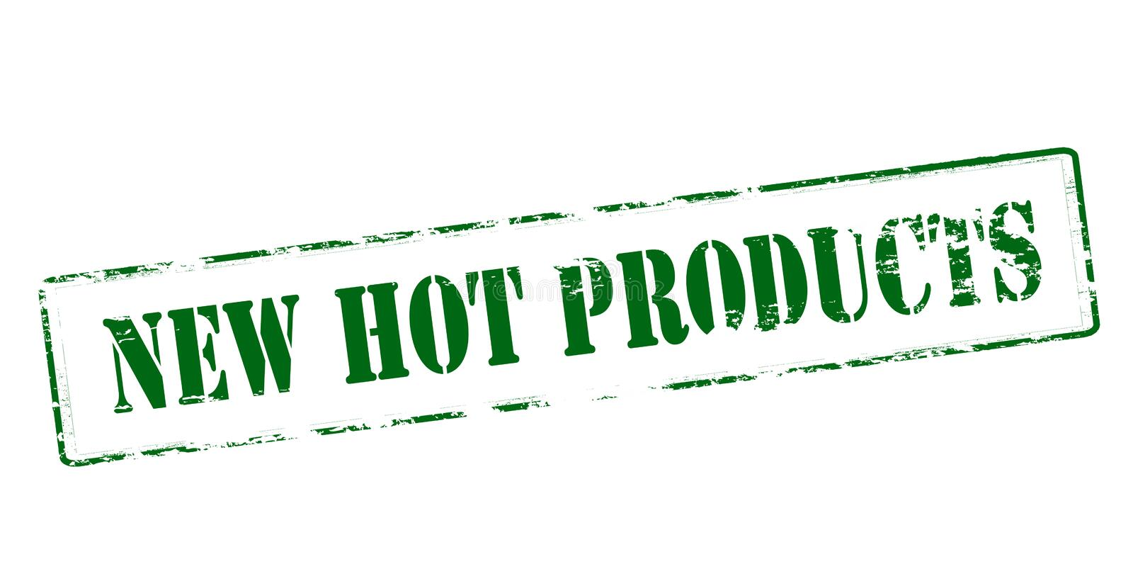 New hot products. Rubber stamp with text new hot products inside, vector illustration royalty free illustration