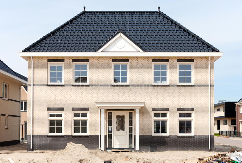 New house. New large house in Almere, the Netherlands royalty free stock photos