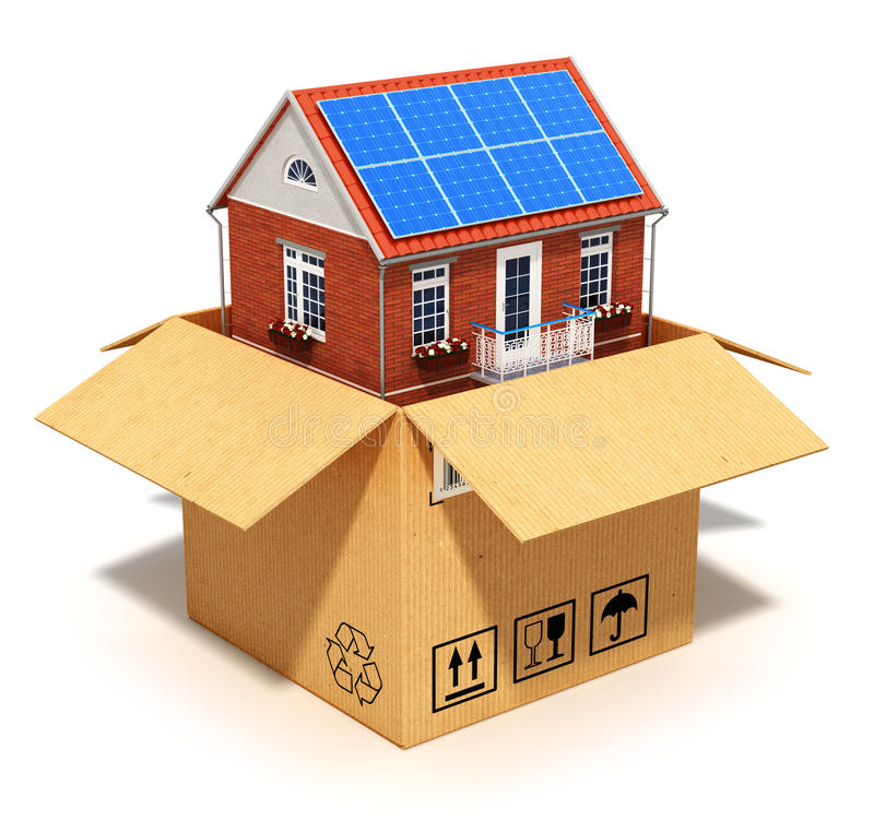New house in cardboard box stock photo image 32753180 for Building loan for house