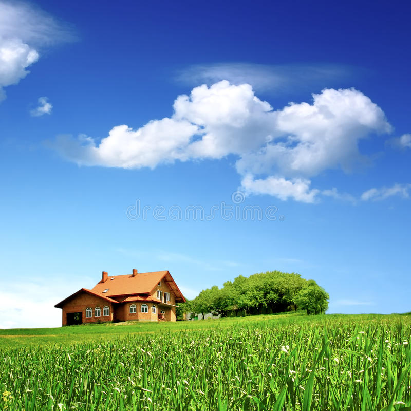 New house - clean environment stock image