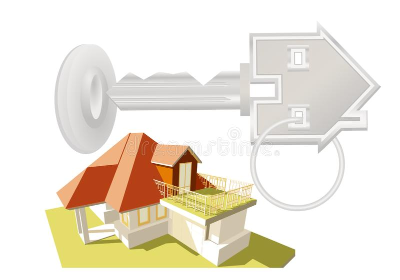New house concept royalty free illustration