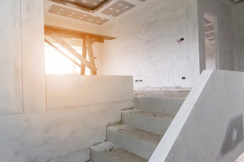Lovely Download New House Construction With Concrete Staircase Stock Photo   Image  Of Floor, Industrial: