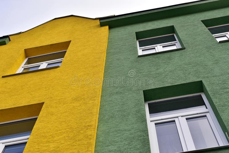 New house facade and windows stock image