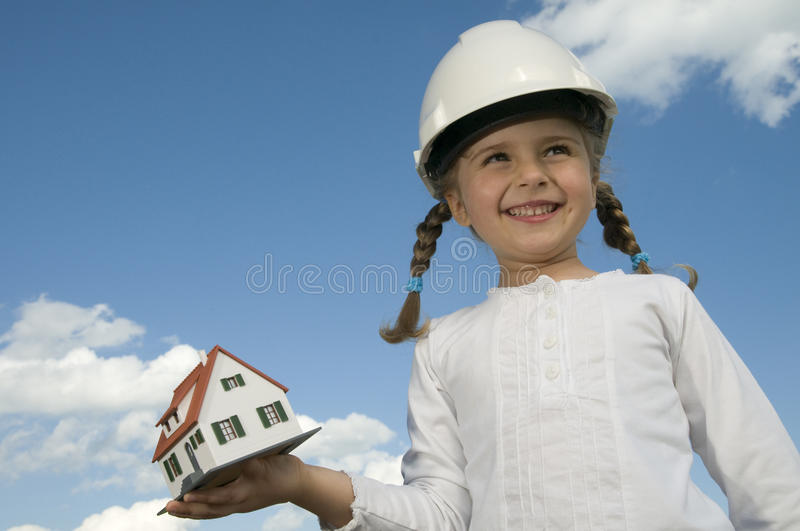 Download New house model stock photo. Image of cloud, invest, building - 9489696