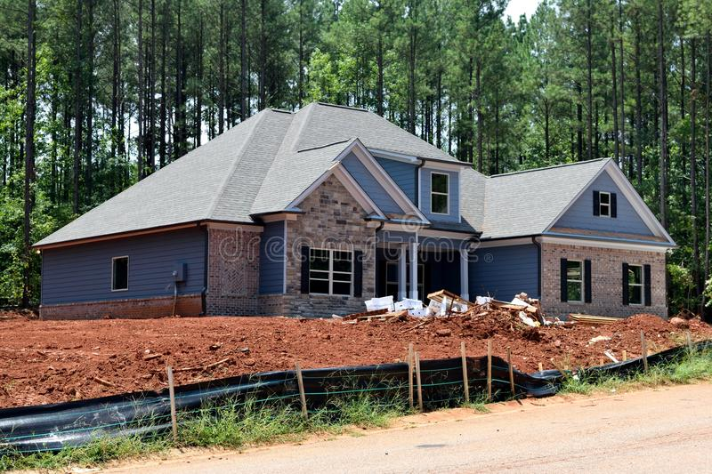 New houses built in Georgia USA. BOGART, GEORGIA, USA - JULY 24, 2017: Residential construction is one of the fastest growing industries in the U.S. and the stock photography