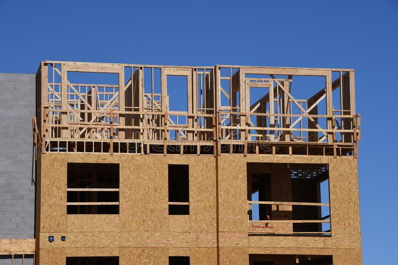 New Housing Construction For Apartments. royalty free stock photography