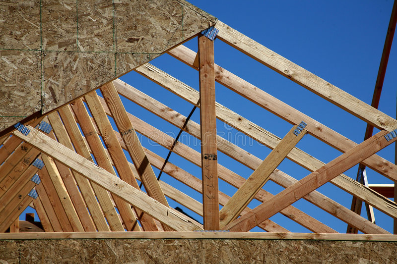 New Housing Construction - Trusses stock images