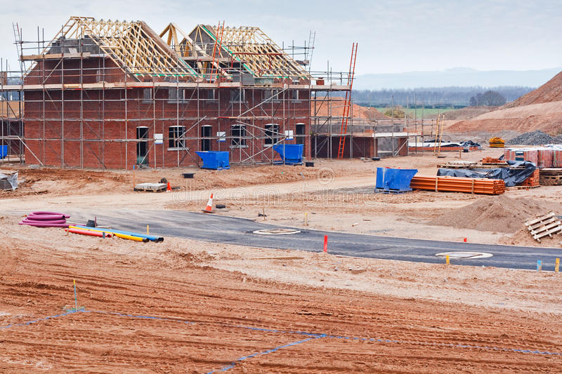 New housing estate construction site stock image image for Home construction websites